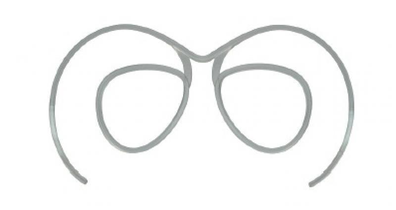 clip da vista per maschere da sci con lente trasparente