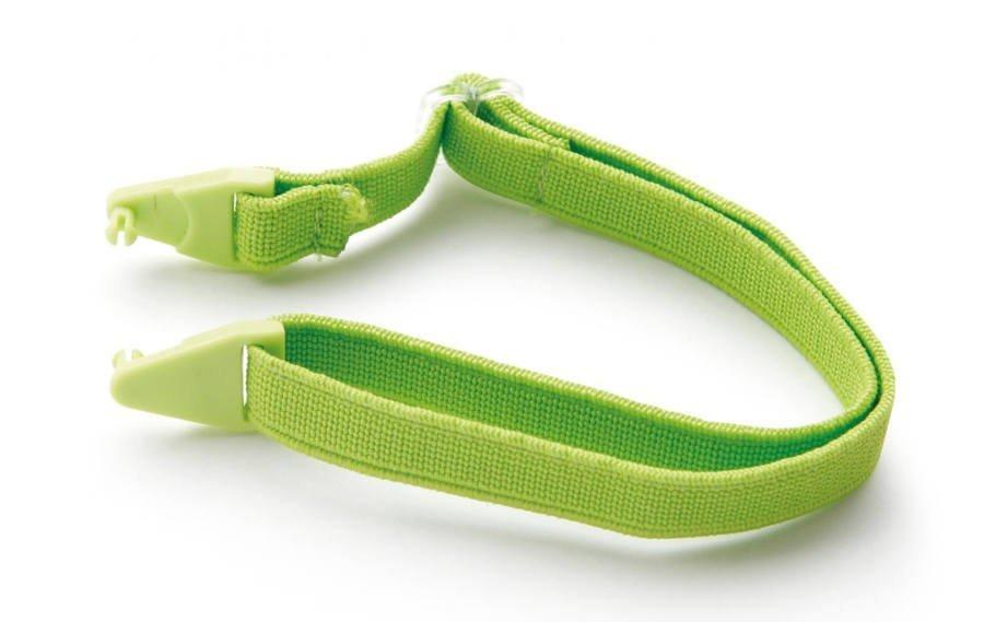 Cordino elastico regoalbile verde per occhiali da montagna per bambini