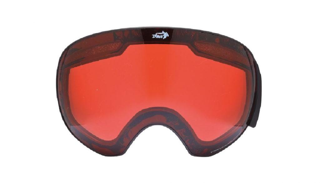 maschere da sci con lente magnetica arancio