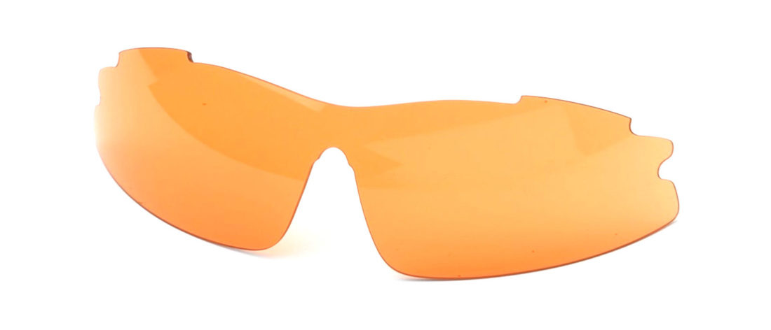 lente di ricambio arancio per occhiali da vista sportivi