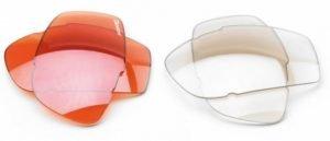 coppia lenti di ricambio colorato per occhiali da running con lenti intercambiabili