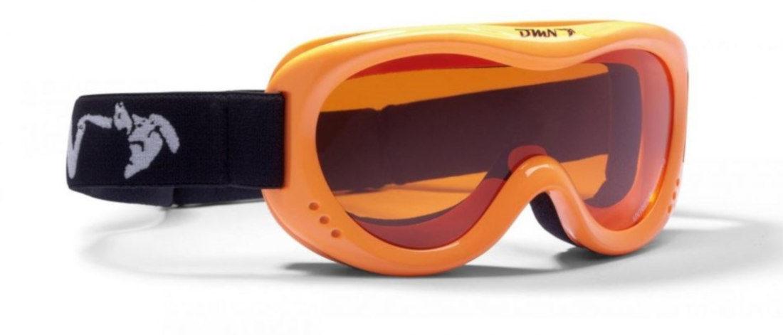 maschera per sci e snowboard da bambino arancio fluo lente singola