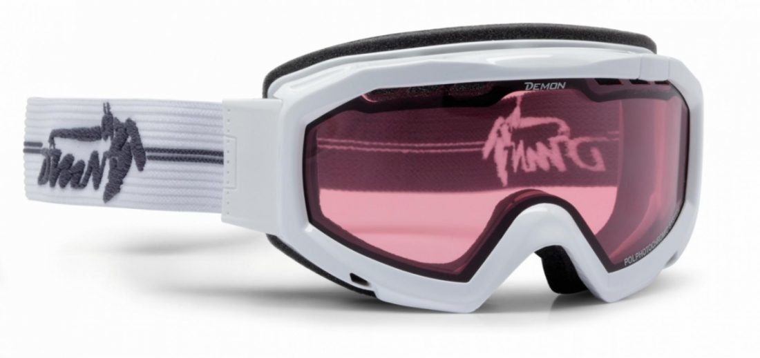 Maschera da neve per sci fotocromatica polarizzata colore bianco