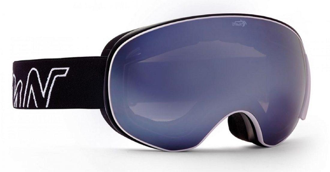 maschera da sci con lente magnetica colore bianco opaco