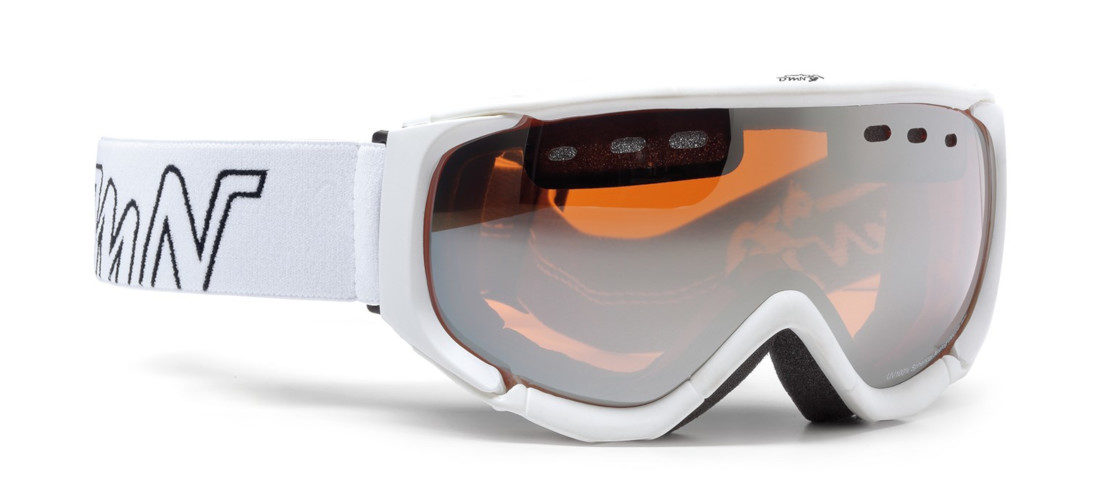 Maschera da sci con lente polarizzata modello matrix colore bianco