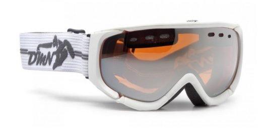 Maschera da sci con lente polarizzata colore bianco opaco