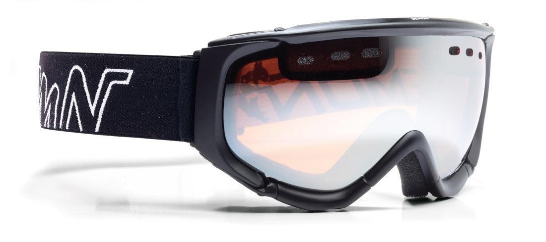 Maschera da sci con lente polarizzata total black modello matrix