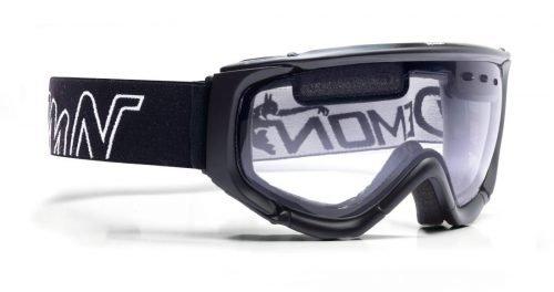 Maschera da sci e snowboard con lente trasparente per sciare in notturna o con nebbia e nevicata matrix nero opaco