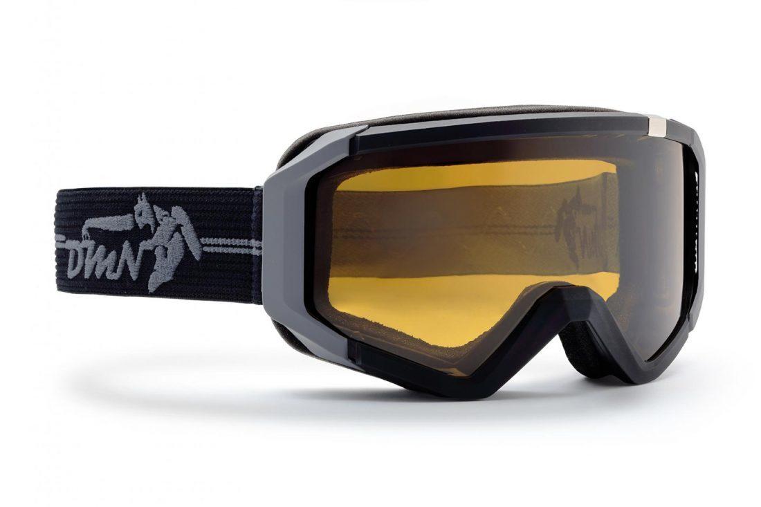 maschera da sci fotocromatica polarizzata nero opaco grigio