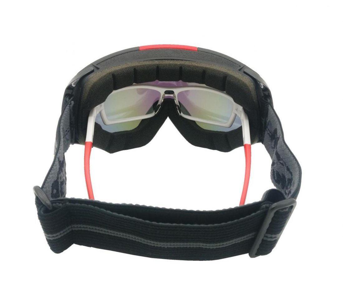Maschera da sci OTG per lenti graduate e montature da vista colore nero