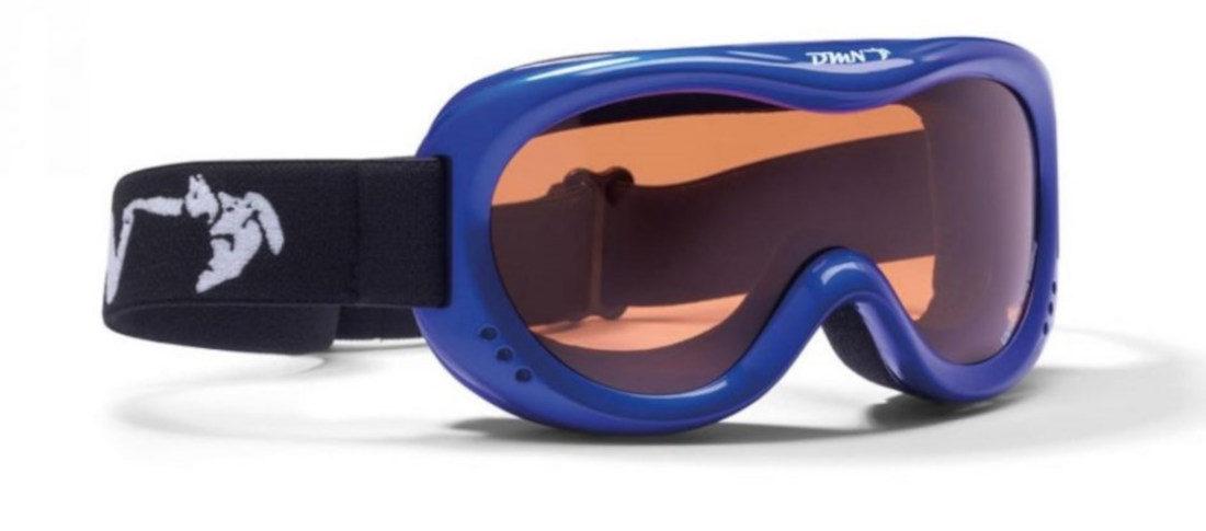 maschera da sci bambino doppia lente arancio colore blu