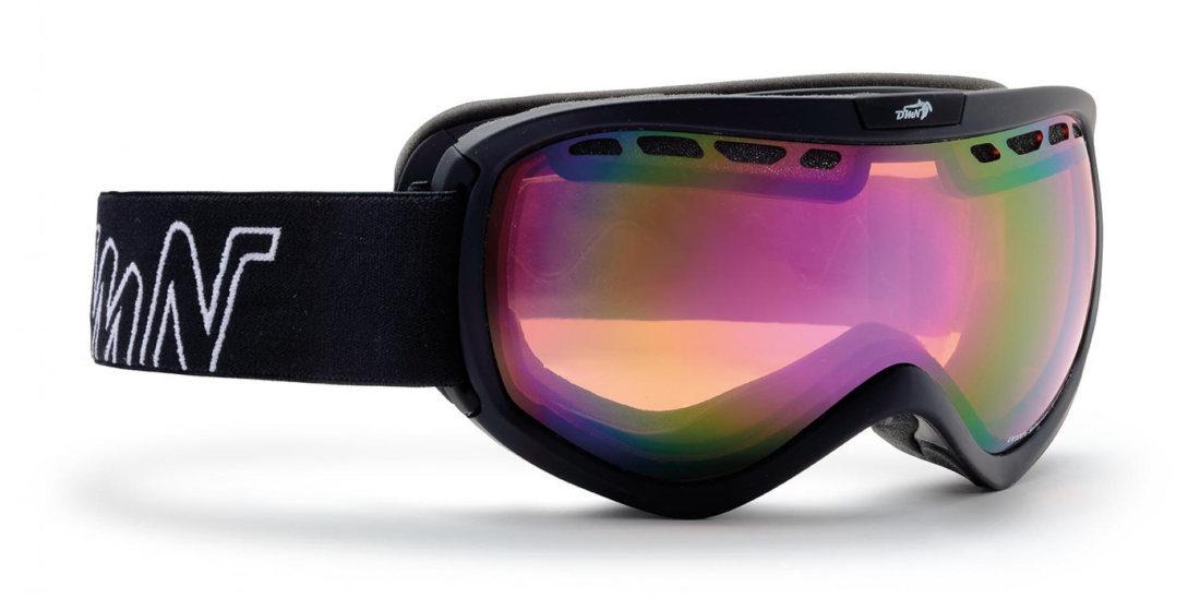 Maschera da sci per lenti da vista nero opaco lente specchiata