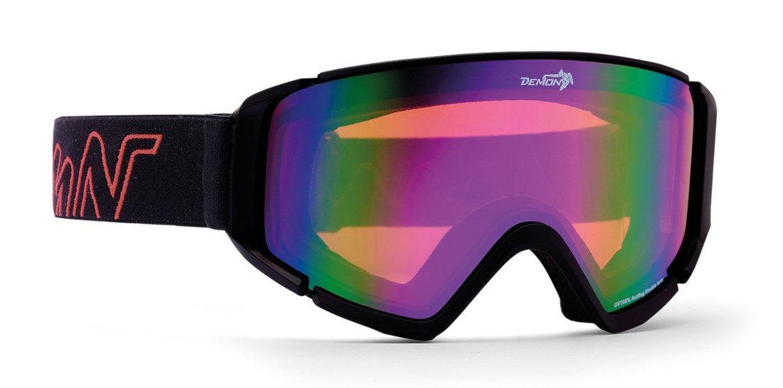 Maschera da sci specchiata ad ampio campo visivo modello PEAK