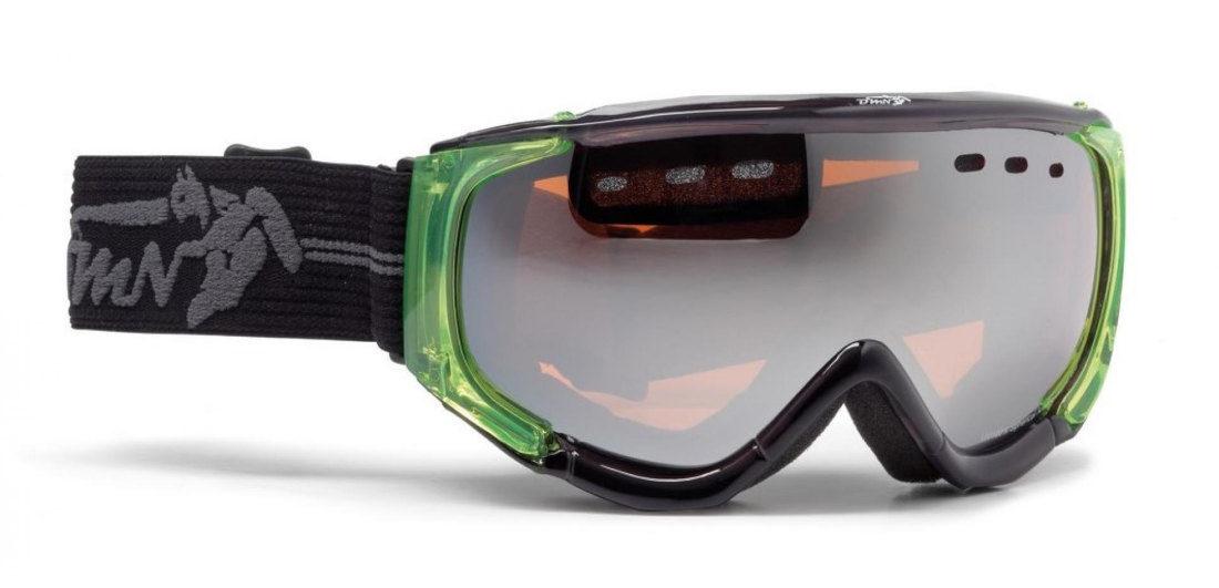 maschera da snowboard con lente polarizzata specchio argento