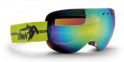 maschera da snowboard e sci freestyle con lente specchiata gialla