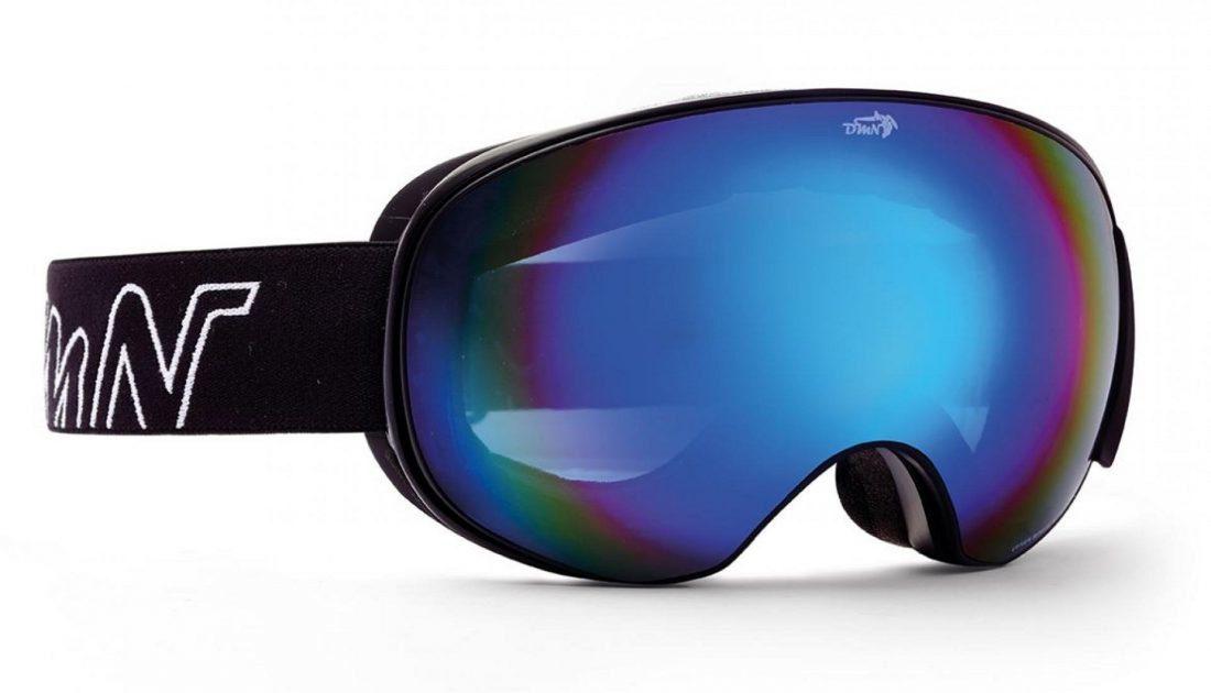 Maschera da snowboard con lente magnetica intercambiabile colore blu