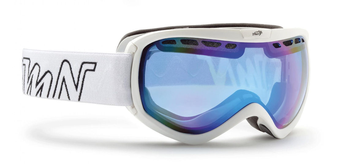 maschera da snowboard per lenti da vista colore bianco opaco
