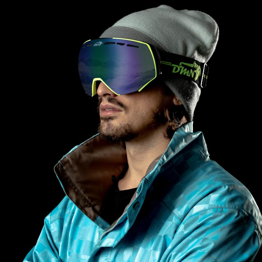 Maschera da snowboard per occhiali da vista lente specchiata modello ALPINER