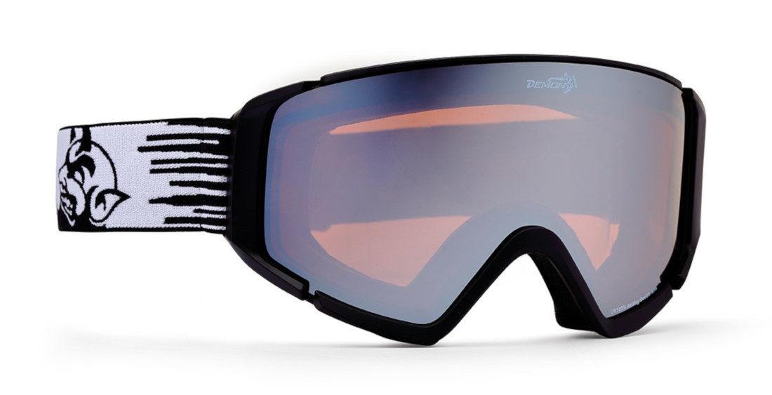 Maschera da snowboard con lente specchiata colore nero opaco
