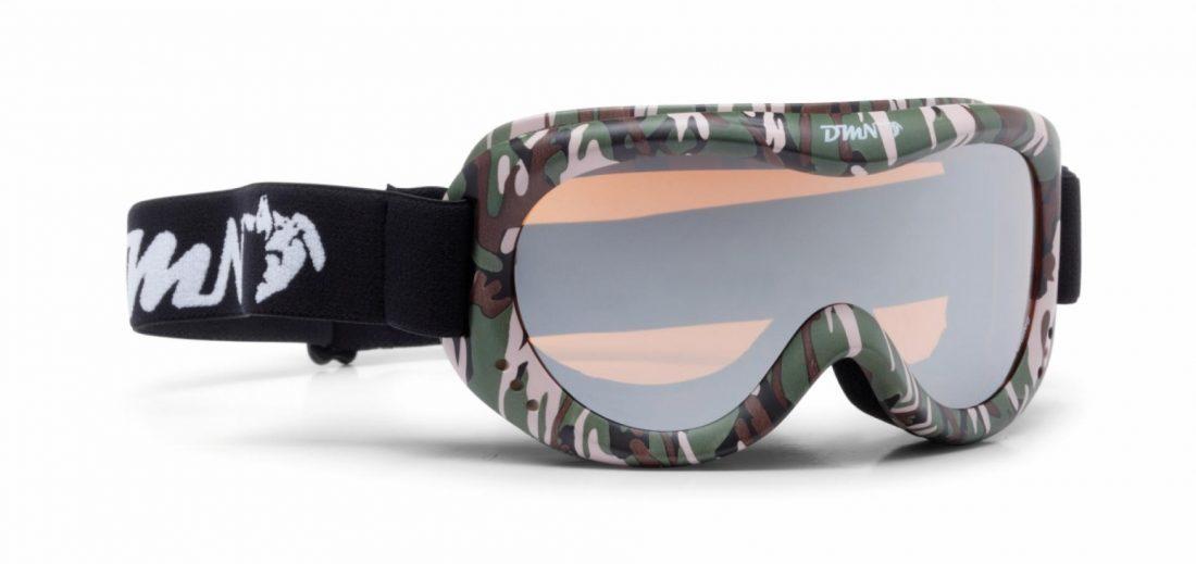 maschera da neve per bambini colore militare lente specchiata
