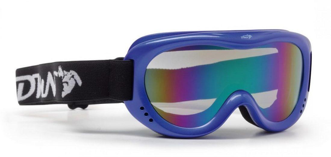 maschera da neve per bambino lente specchio blu colore blu lucido