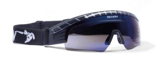 Maschera per sci di fondo e biathlon colore carbonio