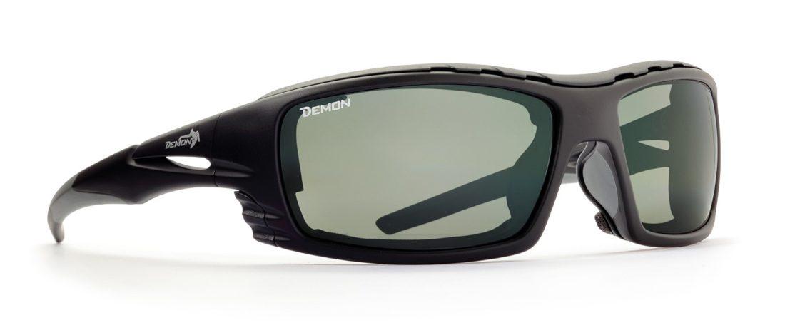 occhiale da alpinismo con lenti fotocromatiche nero grigio