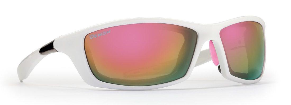 occhiale da donna per arrampicata bianco lenti specchiate