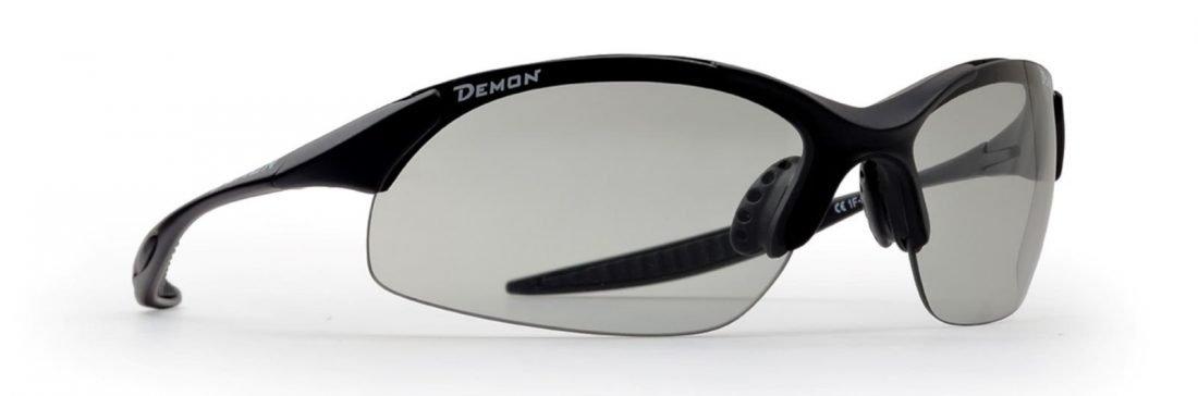 occhiale da ciclismo lenti fotocromatiche dchrom modello 832 nero opaco