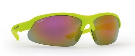 occhiale da ciclismo per bambini giallo fluo modello kid cycle