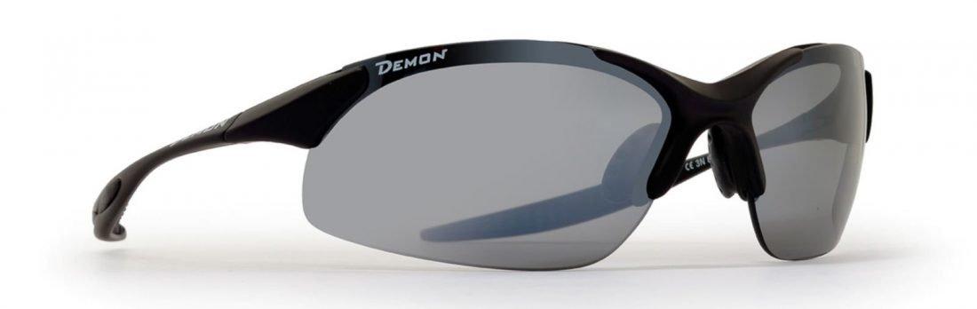 Occhiale da ciclismo per bici da corsa lenti specchiate intercambiabili modello 832 nero opaco