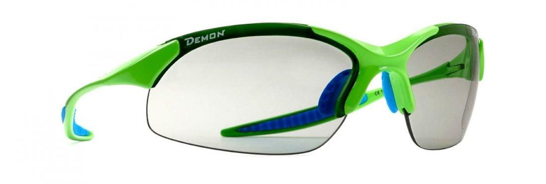 occhiale da ciclismo per ciclocross lenti fotocromatiche dchrom modello 832 verde fluorescente