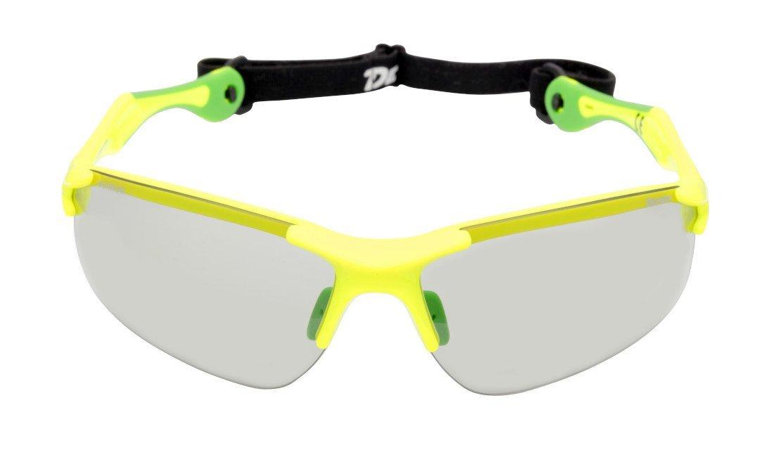 occhiale da ciclismo per mountain bike giallo fluo lenti fotocromatiche dchrom modello trail