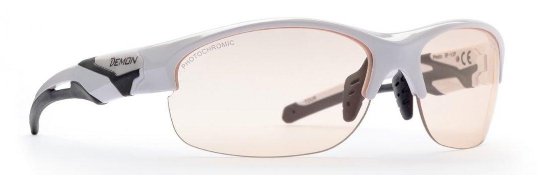 occhiale da donna per ciclismo con lenti fotocromatiche bianco