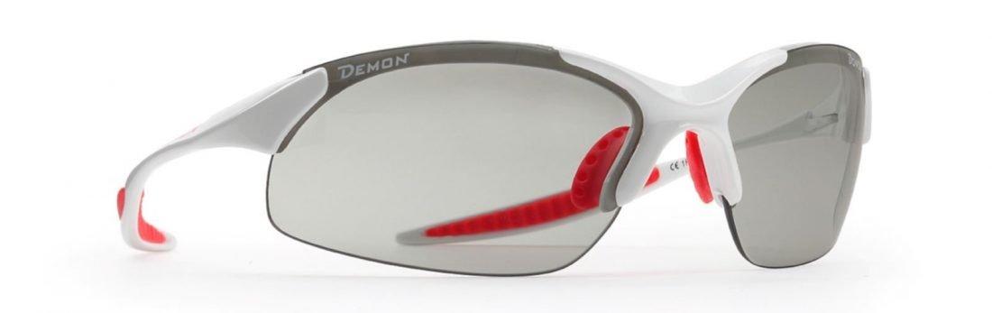 occhiale da donna per mountain bike lenti fotocromatiche dchrom colore bianco