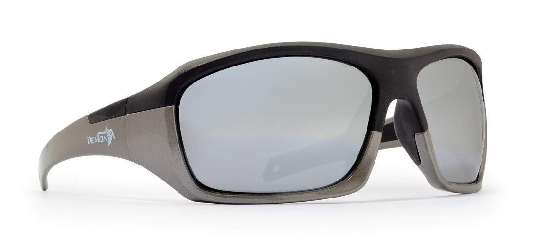 Occhiale da montagna con lenti specchiate modello solid nero grigio