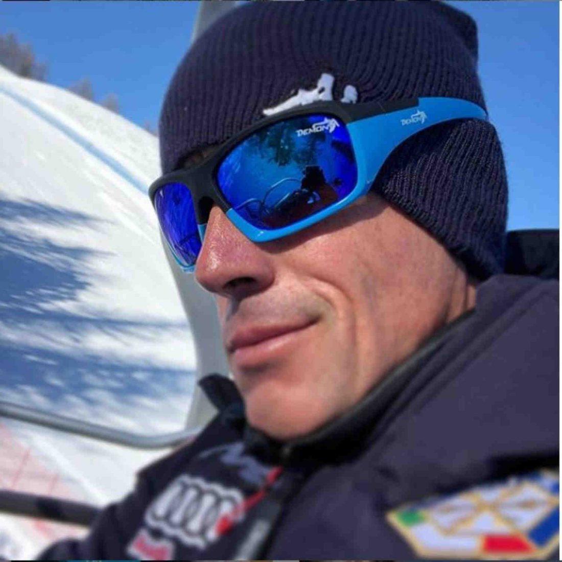 occhiali per sci con lenti specchiate