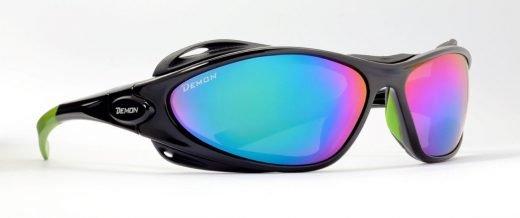occhiale da alta montagna lenti specchiate blu categoria 4