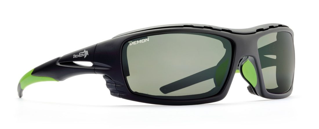 occhiale da montagna e alpinismo nero verde con lenti fotocromatiche