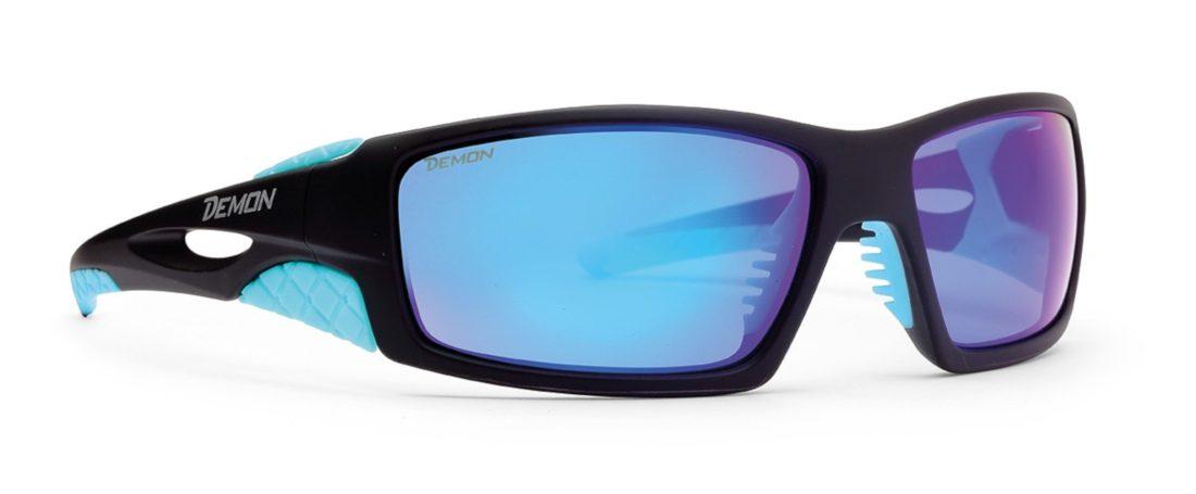 occhiale da montagna per escursionismo lenti specchiate blu modello dome