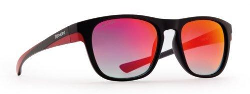 occhiale da sole con lenti specchiate rosse modello trend