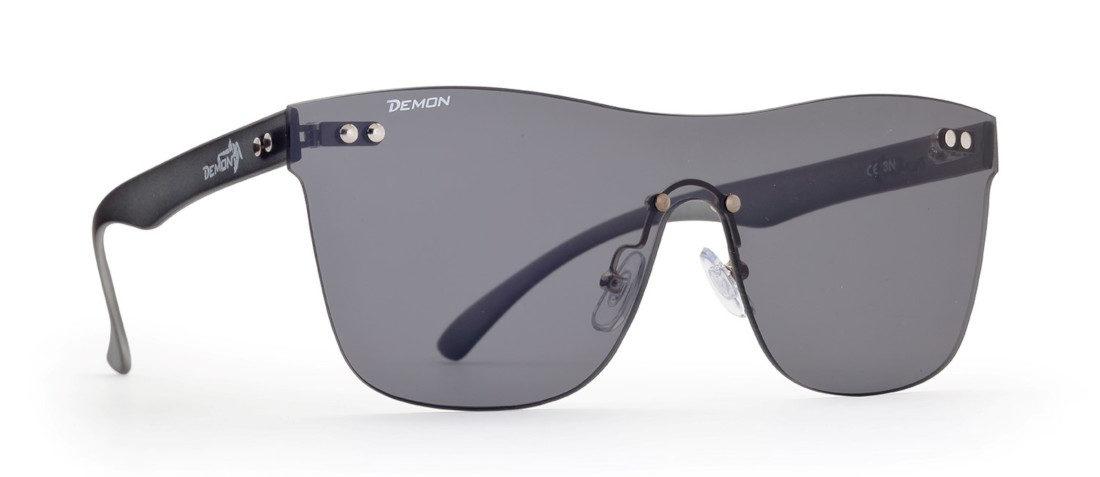 occhiale di moda monolente specchiata argento modello MASK