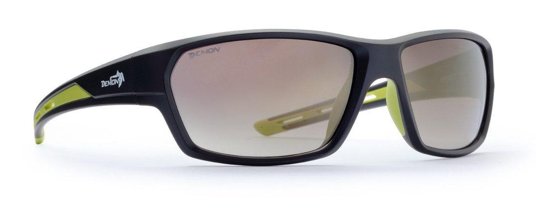 occhiale da sole lifestyle con lenti specchiate colore marrone opaco