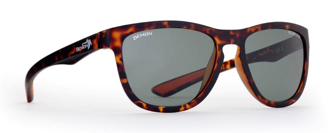 occhiale da sole polarizzato marrone opaco con lenti tonde
