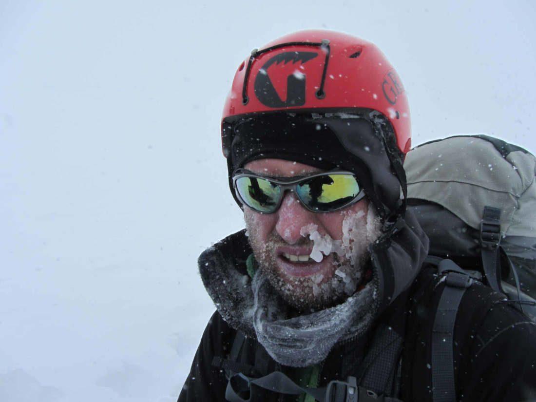 occhiale da uomo per montagna e alpinismo grigio opaco