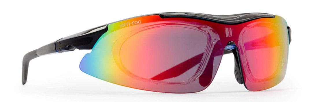 occhiale da vista multisport arizona nero con lente specchiata