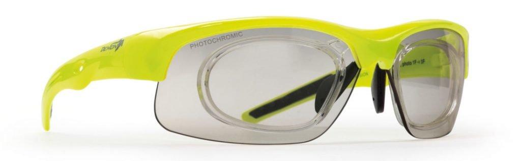 occhiali sportivi da vista con lenti fotocromatiche per ciclismo