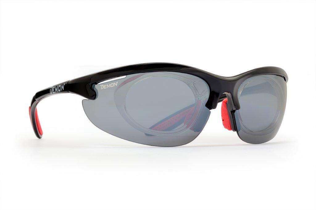 occhiale da vista per giocare a tennis colore nero