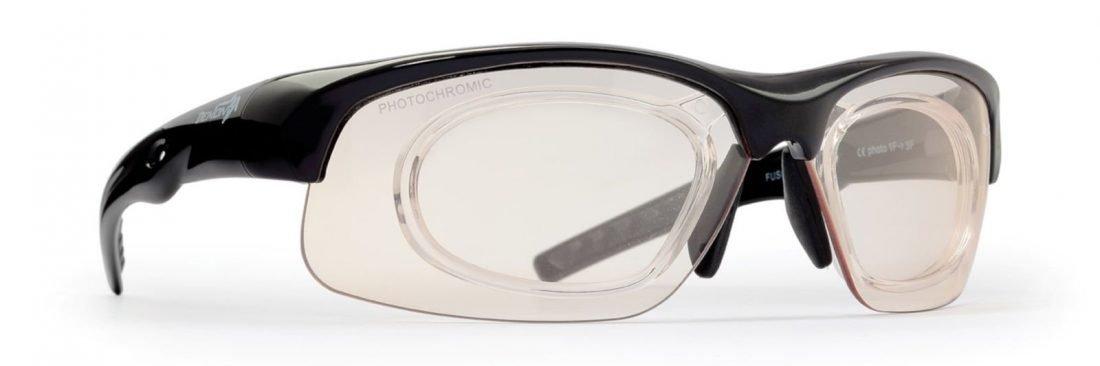 occhiale da vista sportivo con clip vista per lenti graduate modello fusion
