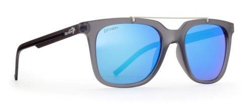 occhiale moda doppio ponte in metallo lenti specchio blu modello fashion 1